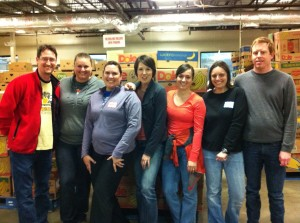 Sorting food at Capital Area Food Bank